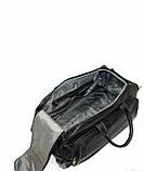 Сумка на колесах кожаная дорожная черная Катана 33159, фото 4