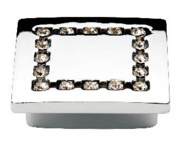Ручка мебельная Ozkardesler TASLI MIMOZA 5320-06 32мм Хром с камнями
