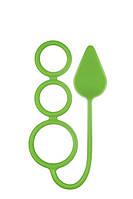 Анальная пробка NS Novelties -  RENEGADE 3 RING CIRCUS MEDIUM GREEN (T280184)
