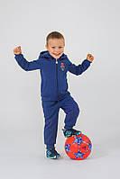 Утепленный спортивный костюм для мальчика Модный карапуз ТМ Темно-синий