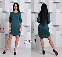 Женское меланжевое платье прямого покроя, в расцветках