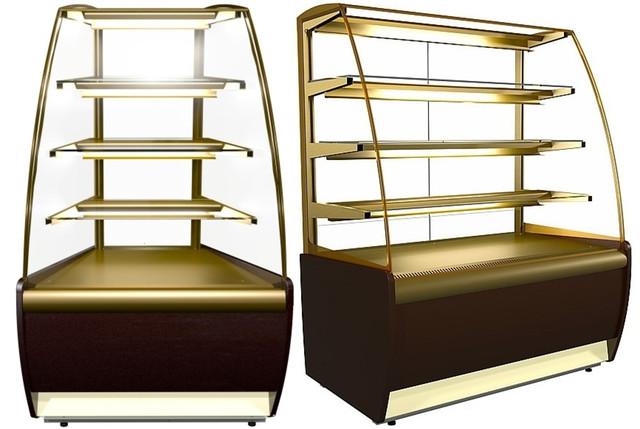 Мини круглие холодильники витрина для тортов для кафе фото