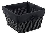 Ящик плетенный  черный  27Х27 см