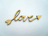 "Заготовки для творчества,декупаж ""Слово Love"""