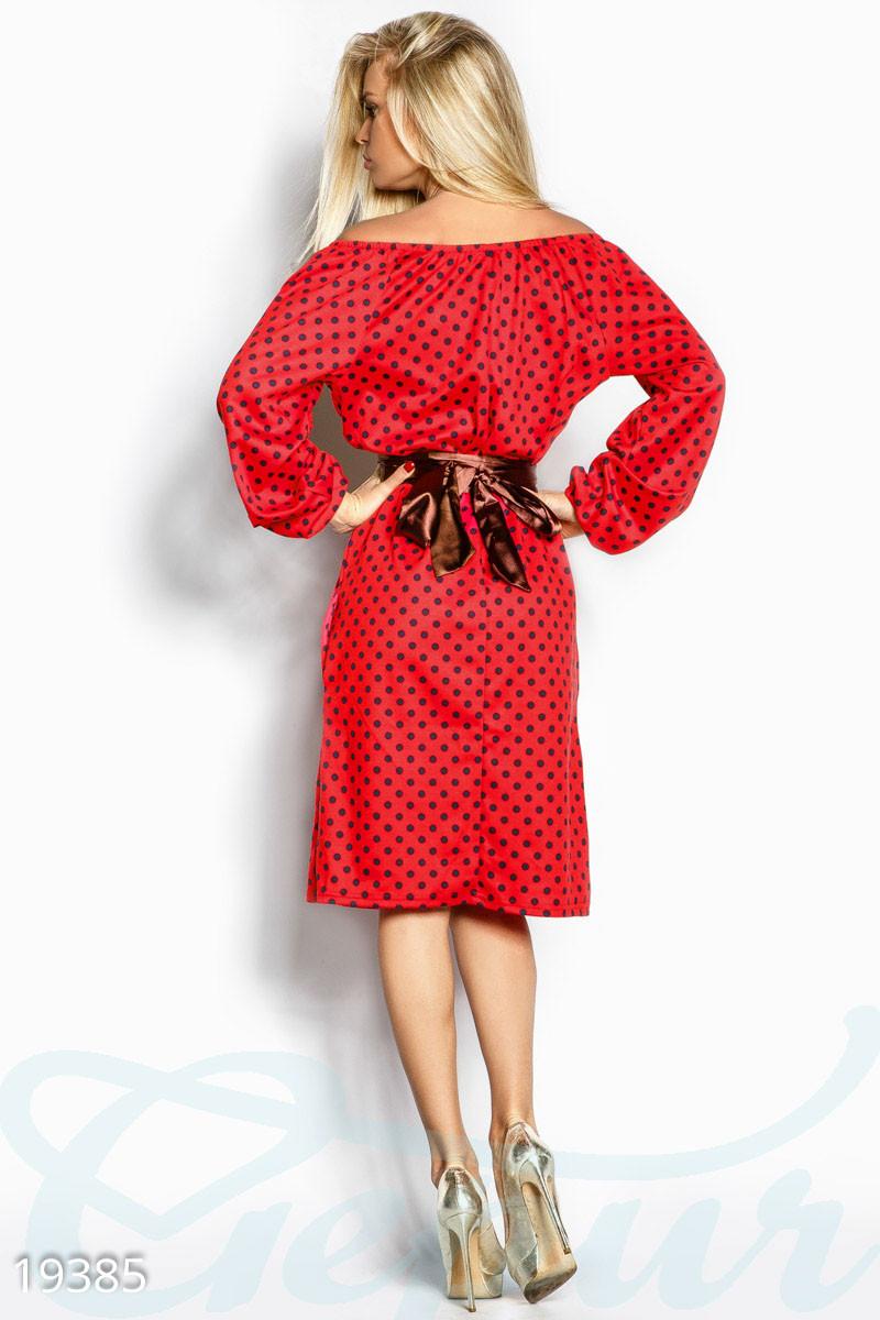 b66142cd151 Ретро платье горошек. Цвет красный.