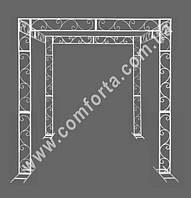 33994 Флора, шатер свадебный разборный, высота ~ 2,6 м,  ширина ~ 2,5 м, длина ~ 2,1 м, каркас металлический