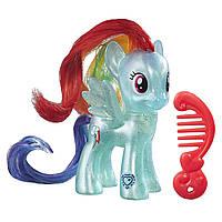 Игрушка фигурка пони глиттерная Рэйбоу Дэш Литтл Пони (My Little Pony Rainbow Dash Doll)