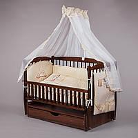 """Детский постельный комплект """"Люкс 03"""" 8 элементов с вышивкой"""
