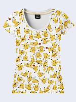 Женсая футболка Пикачу коллаж