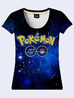 Женсая футболка Pokemon Go