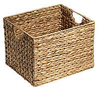 Ящик плетенный из бамбука с водного гиацинта 25X30X22 см