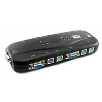 4-портовый KVM свич, переключатель PS/2