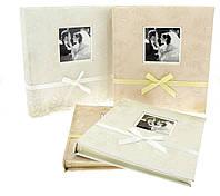 Свадебный фотоальбом из эко-кожи персикового цвета на 400 фото размером 10х15