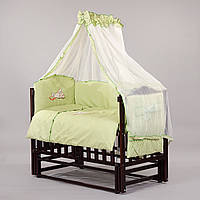 """Детский постельный комплект """"Люкс 06"""" 8 элементов с вышивкой"""