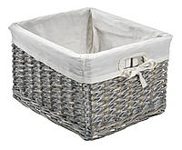 Ящик корзина плетенная из лозы серая 27Х32 см