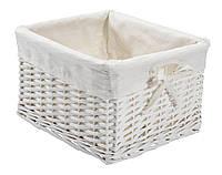 Ящик корзина плетенная из лозы белая 27Х32 см
