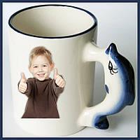 Печать на чашках для детей и взрослых Чашка с резной ручкой  с Вашим фото