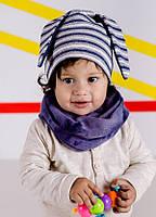 Детская шапка ХОСЕ (набор) для мальчиков оптом размер 46- 48-50