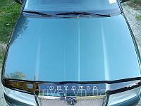 Дефлектор капота (мухобойка) Skoda Octavia Tour 1998-2012, на крепежах