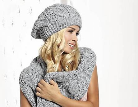 Модный теплый женский берет оригинальной вязки, Pawonex., фото 2