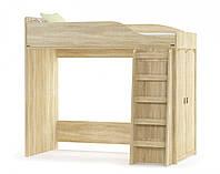Валенсия кровать-горка (Мебель-Сервис) дуб самоа 2025х971х1820 мм
