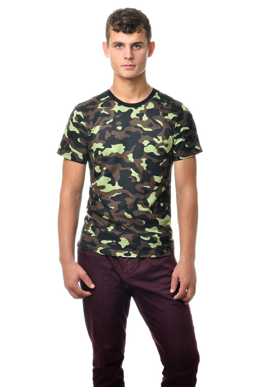 Класична армійська футболка c коротким рукавом, хакі
