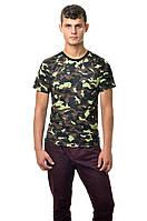 Классическая армейская футболка c коротким рукавом, хаки