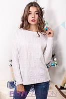 Женский осенний свитер 8821