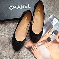 Женские кожаные балетки Chanel женская обувь шанель 35 размер 36 размер