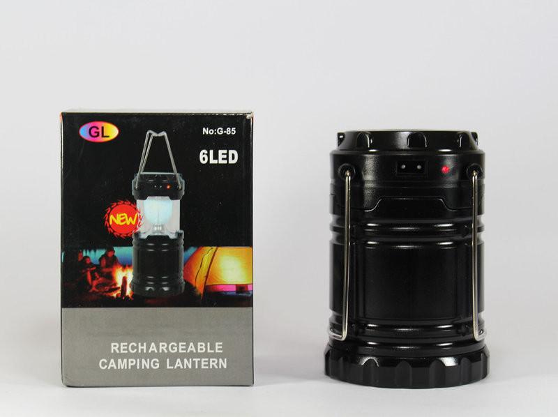 Кемпинговый складной фонарь с солнечной панелью G-85 solar VD