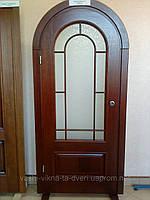 Двері шпоновані дубом арочні