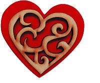Магнитик из дерева ко дню влюбленных №14