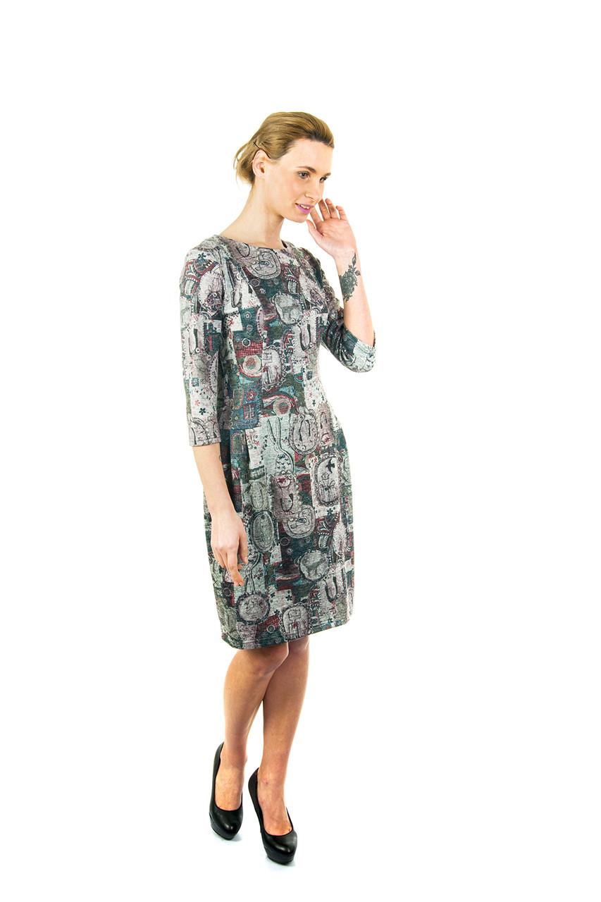 Платье теплое с юбкой-тюльпан П168