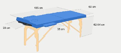 Массажный стол PBT 2 сегментный деревянный 2-цветный, фото 2