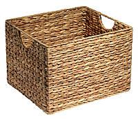Ящик корзина плетенная из гиацинта с ручками 30X35X25 cv