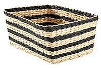 Ящик плетенный полосатый 22Х32 см