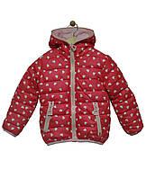 Grace Куртка 2-стороння для дівчинки 60525 р98-128 кораловий