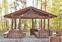 Строительство деревянных беседок их клееного бруса