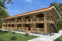 Строительство деревянных гостиниц из клееного бруса