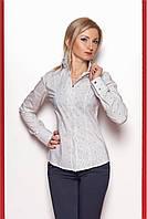 Классическая женская  рубашка  белого цвета