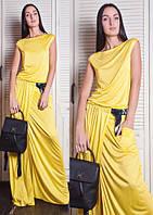 Платье женское, желтое, весна-лето P-CRIS 5-17