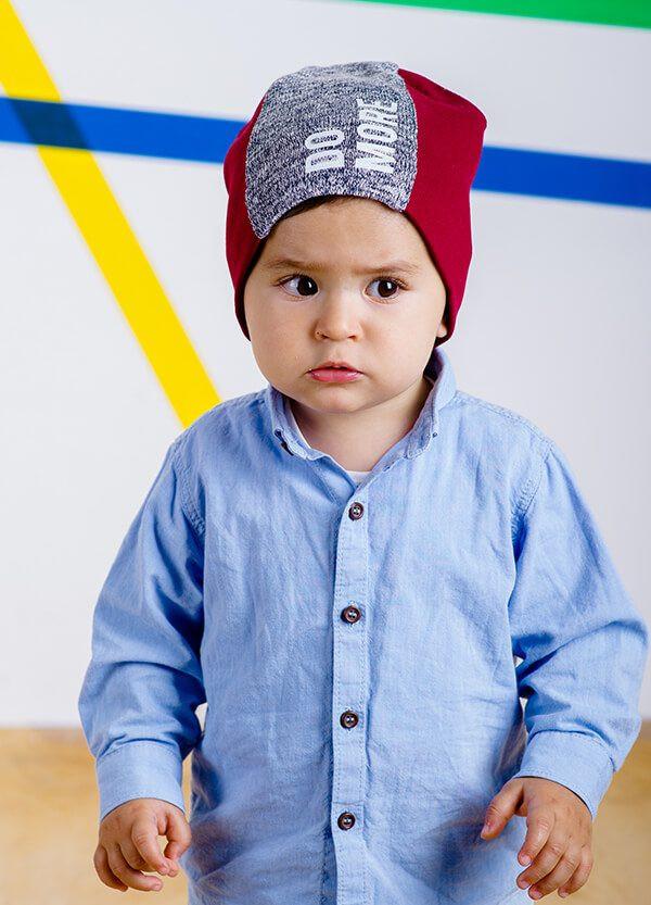 Детская шапка МИГЕЛЬ для мальчиков оптом размер 46- 48