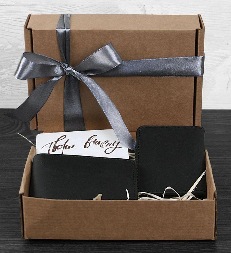 Стильный подарочный набор аксессуаров Нью-Йорк для него BlankNote BN-set-access-4 цвет графит