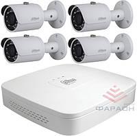 1Мп Комплект видеонаблюдения HDCVI Dahua 4 наружных камеры
