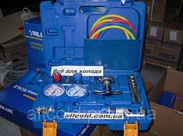 Набор для обработки труб VALUE VTB-5B-1- R410A ( труборез,808, коллетор R410, шланги ) чемодан