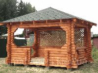 Строительство деревянных беседок из бревна