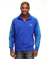 Мужская спортивная кофта Адидас синяя от лучшего производителя