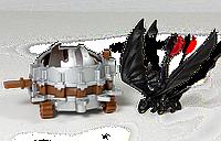 Дракон Беззубик с боевой машиной