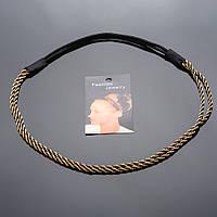 Обруч на резинке Жгут металл(бронзовый цвет)