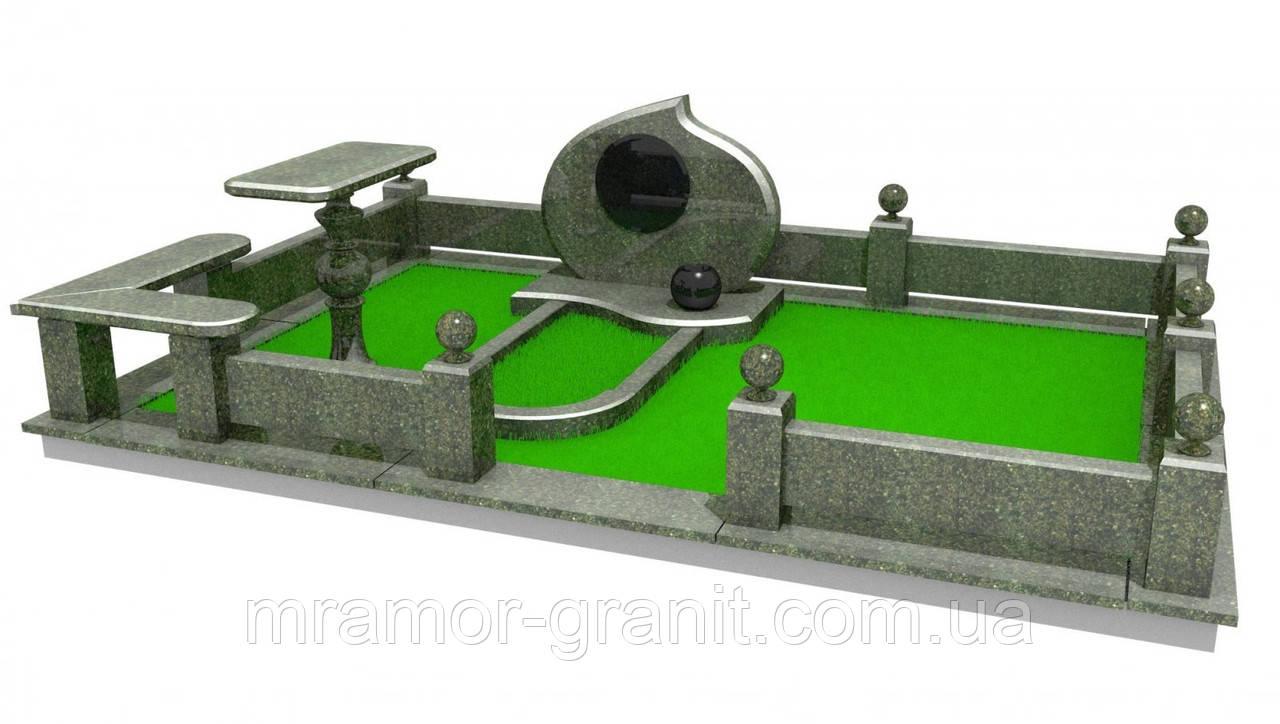 Мемориальный комплекс из гранита П - ЭМК 10